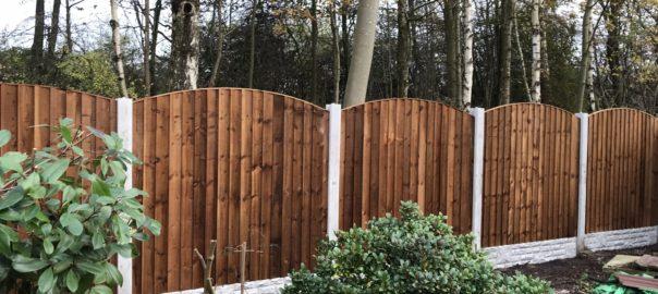 Wooden Garden Fencing in Leigh