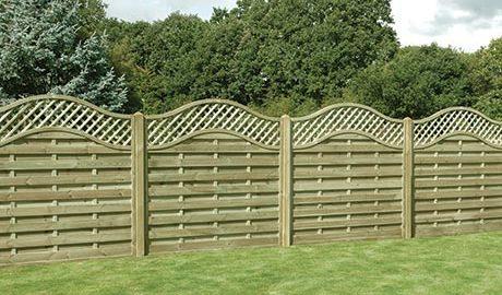 Wooden Garden Fencing in Burscough