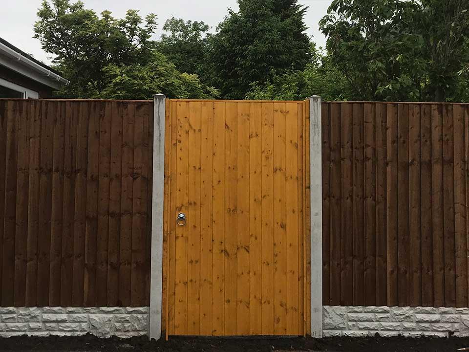 Wooden Garden Gates in Up Holland