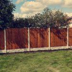 Wooden Garden Fencing in Golburne
