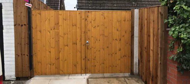 Wooden Garden Gates in Eccleston
